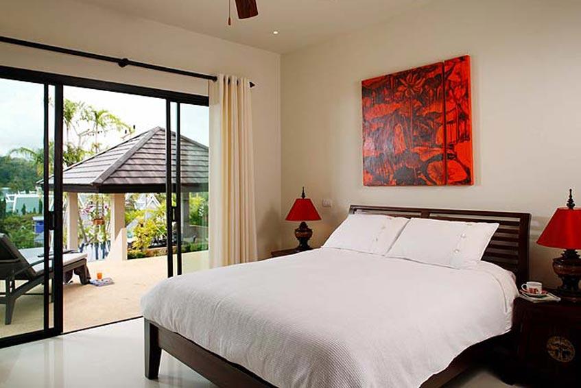 emerald villa nai harn phuket holiday rental poolside double bedroom