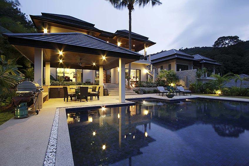 emerald villa nai harn phuket holiday rental bbq barbecue poolside
