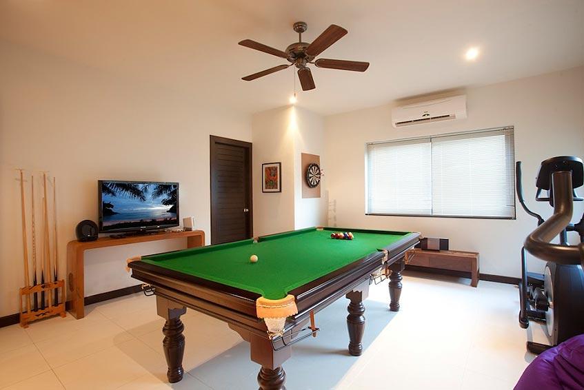 emerald villa nai harn phuket holiday rental pool table darts tv excercise gym