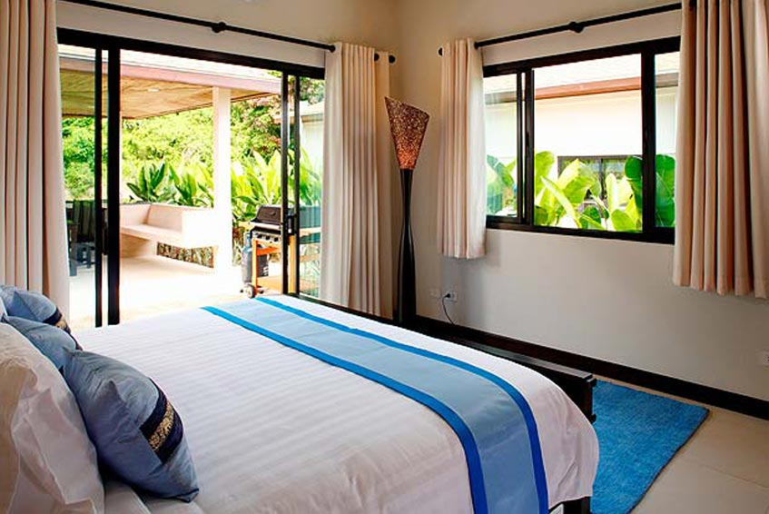 gemstone villa nai harn phuket holiday rental double bedroom poolside sala