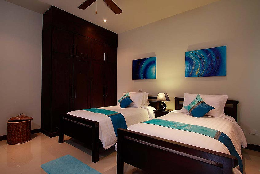 gemstone villa nai harn phuket holiday rental twin bedroom