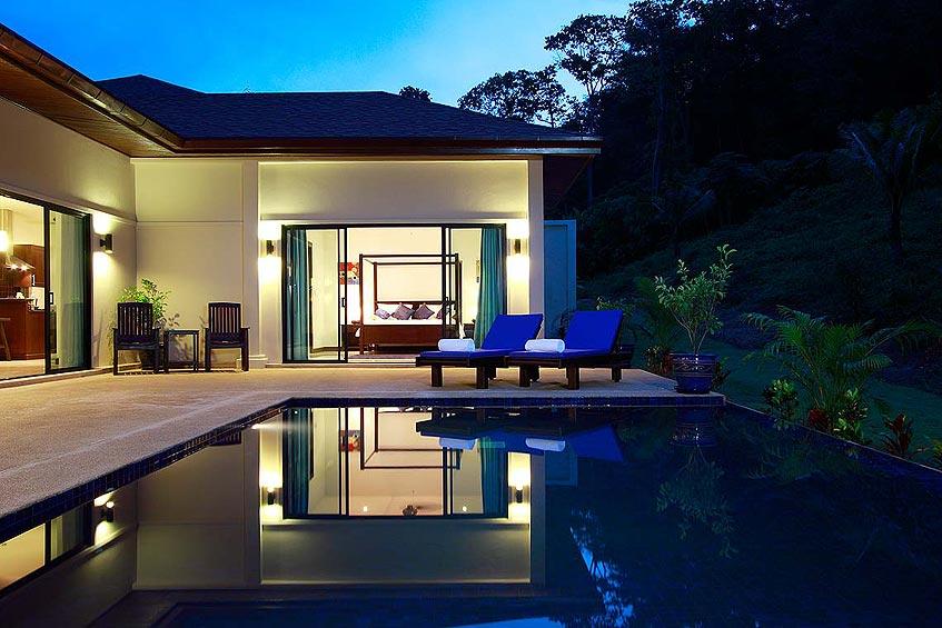 gemstone villa nai harn phuket holiday rental poolside bedroom living room