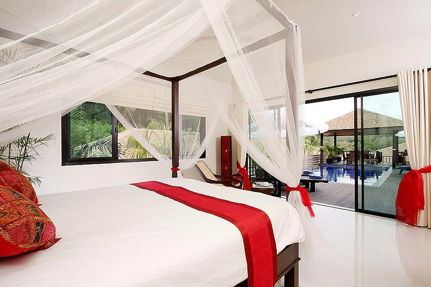 moonstone villa nai harn phuket holiday rental 4 poster bed pool deck