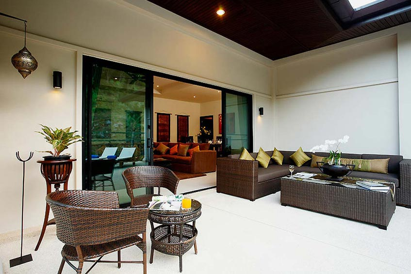sapphire villa nai harn phuket holiday rental covered outdoor seating area