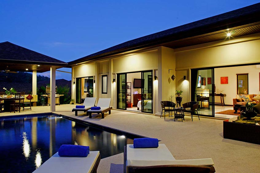 sapphire villa nai harn phuket holiday rental poolside bedrooms living room sala