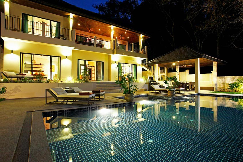 sunstone villa nai harn phuket holiday rental pool sala night