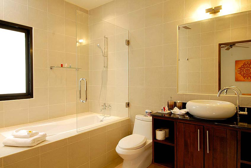 sunstone villa nai harn phuket holiday rental en suite bathroom bath shower wc