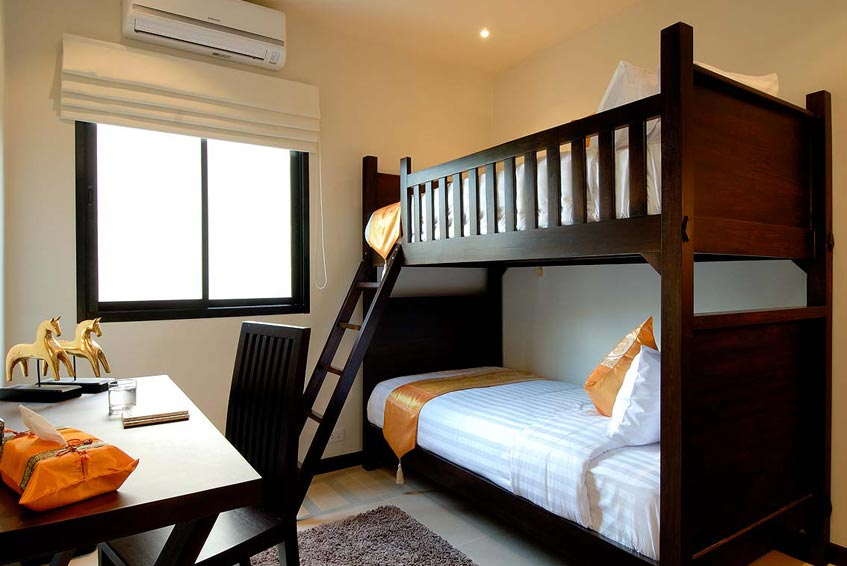 sunstone villa nai harn phuket holiday rental kids room bunk bed