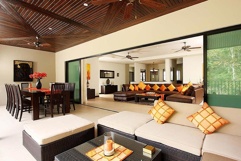 sunstone villa nai harn phuket holiday rental living room outdoor covered seating