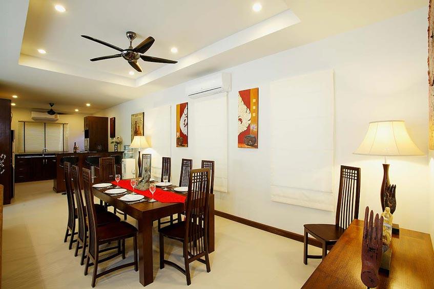 topaz villa nai harn phuket holiday rental dining room kitchen
