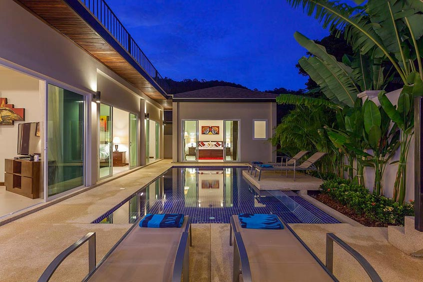 topaz villa nai harn phuket holiday rental swimming pool sundeck guest room