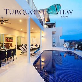 turquoise view, nai harn phuket, sleeps 18 with 9 bedrooms and 9 bathrooms