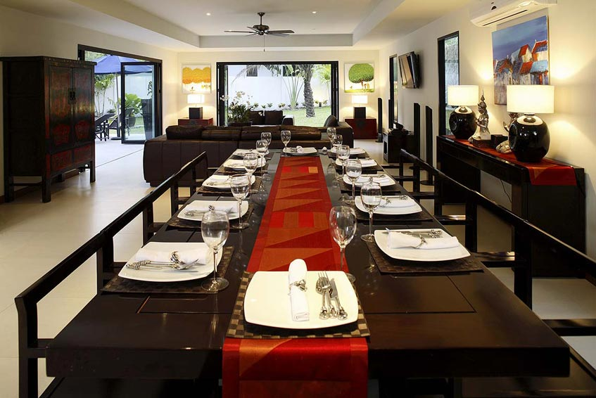 villa maria nai harn phuket holiday rental dining area