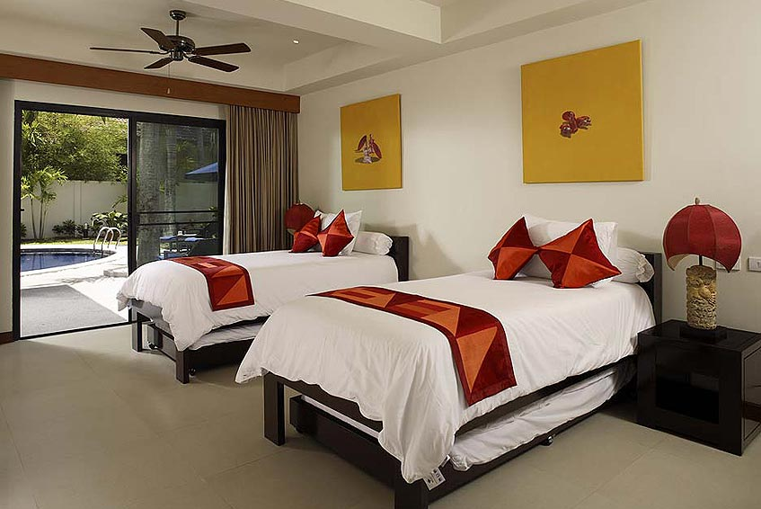 villa maria nai harn phuket holiday rental twin bedroom pool side