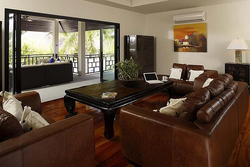 villa maria nai harn phuket holiday rental living room covered balcony seating