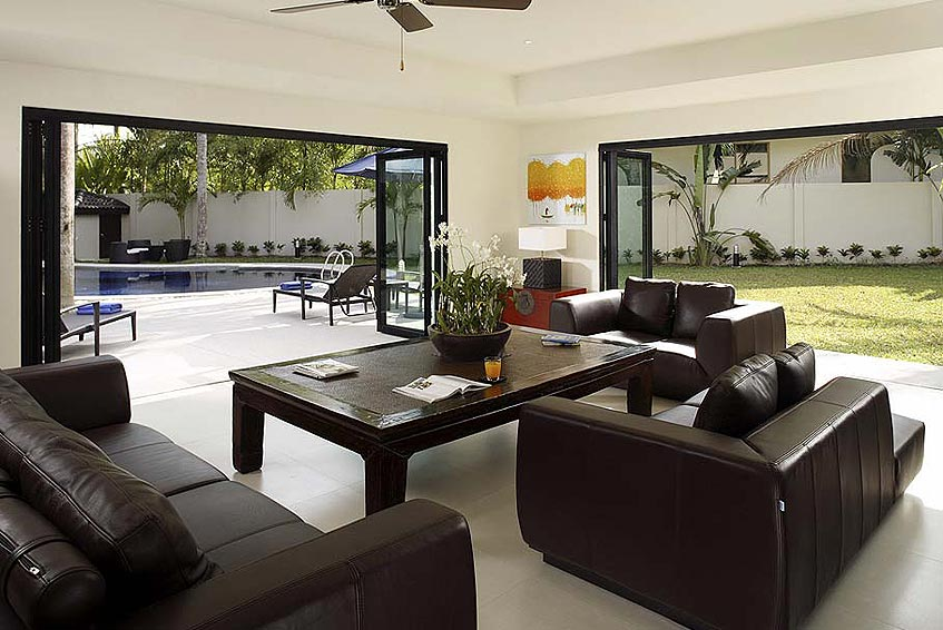 villa maria nai harn phuket holiday rental lounge pool access garden