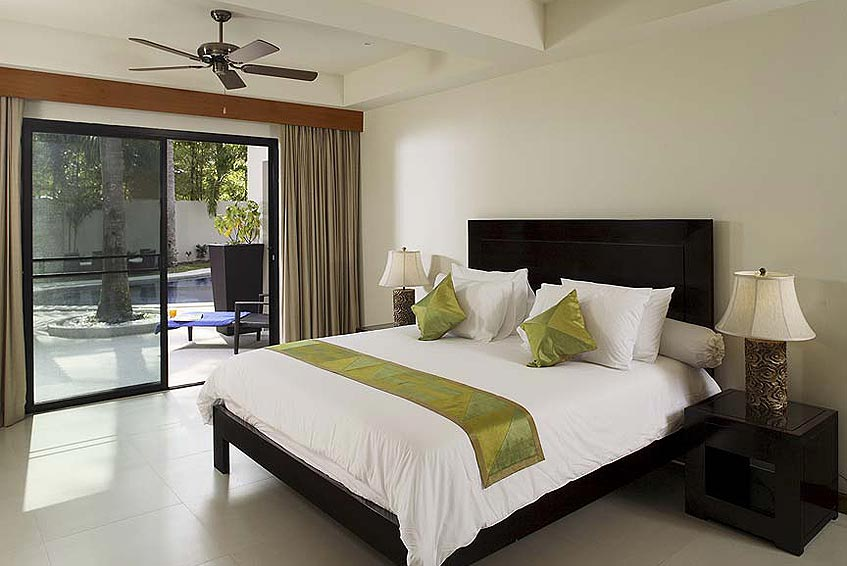 villa maria nai harn phuket holiday rental double poolside bedroom