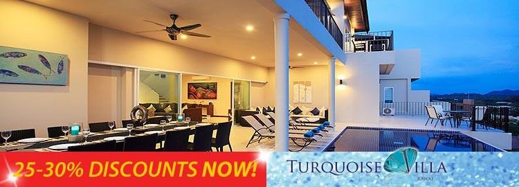 turquoise villa luxury holiday rental nai harn phuket