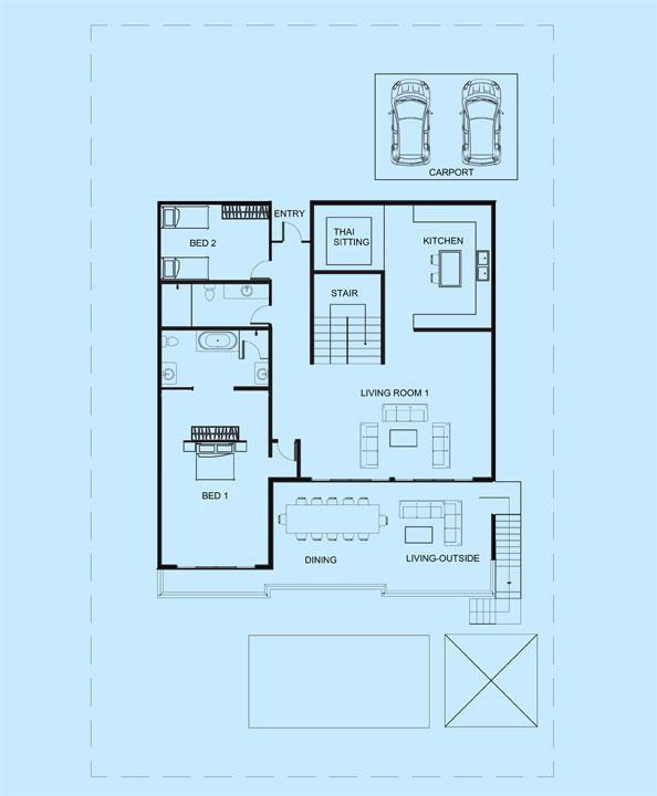 Ivory Villa upper level floor plan