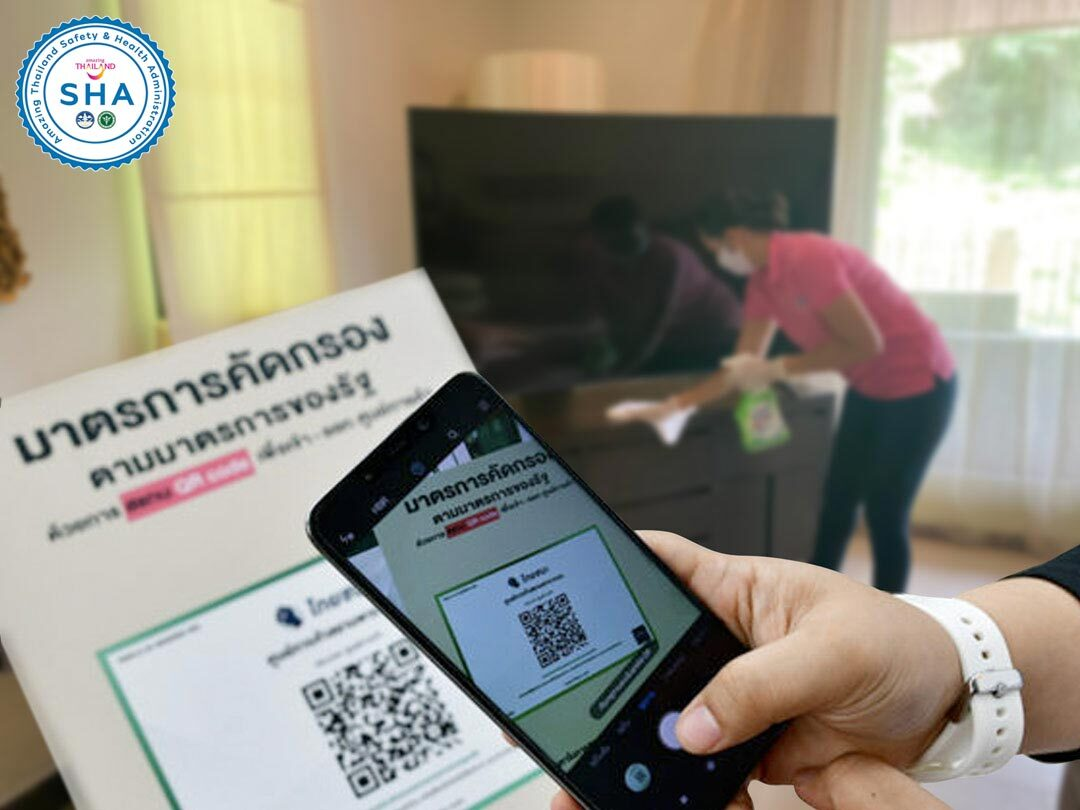 qr code track and trace SHA approved covid safe villas phuket