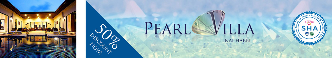pearl villa nai harn phuket is SHA approved for Heath and safety