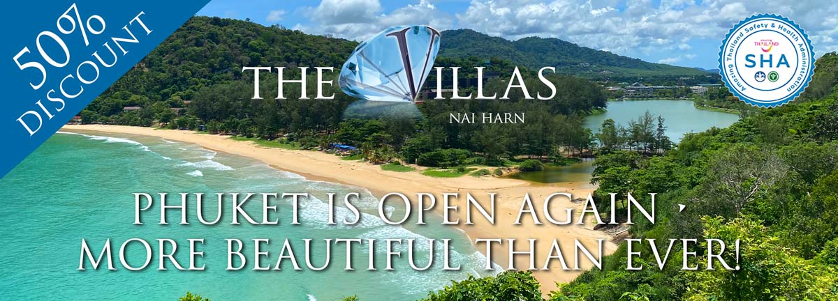 where to stay in phuket, naiharn beach Amazing Thailand Safety and Health (SHA) Plus approved at the Villas phuket